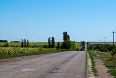 κακός δρόμος στην Ουκρανία Στοκ Φωτογραφίες