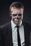 Κακός σκελετός επιχειρηματιών πορτρέτου makeup Στοκ φωτογραφία με δικαίωμα ελεύθερης χρήσης