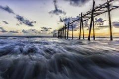 Κακό θάλασσας στο nga phang Στοκ Εικόνες
