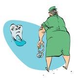 Κακό δόντι και ο οδοντίατρος Στοκ Φωτογραφίες