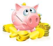 Κακώς piggy έννοια τραπεζών Στοκ Εικόνες