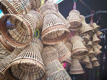 καλάθι ινδικού καλάμου προϊόντων στοκ εικόνες