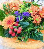 Καλάθι λουλουδιών Στοκ Εικόνα