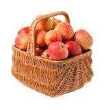 καλάθι μήλων που υφαίνετ&alph Στοκ φωτογραφία με δικαίωμα ελεύθερης χρήσης