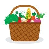 Καλάθι με τα λαχανικά επίσης corel σύρετε το διάνυσμα απεικόνισης απεικόνιση αποθεμάτων