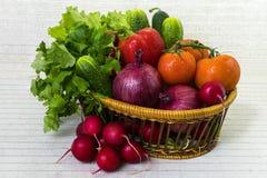 Καλάθι με τα λαχανικά φθινοπώρου Στοκ φωτογραφίες με δικαίωμα ελεύθερης χρήσης