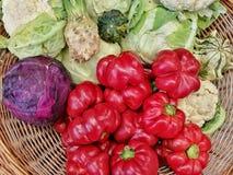 Καλάθι με τα λαχανικά Στοκ Εικόνα