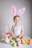 καλάθι μωρών witheaster Στοκ Εικόνες