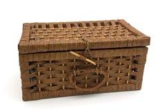 καλάθι ξύλινο Στοκ Εικόνες