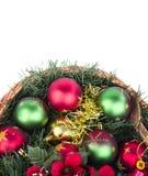 Καλάθι Χριστουγέννων Στοκ Εικόνες