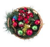 Καλάθι Χριστουγέννων Στοκ Φωτογραφίες