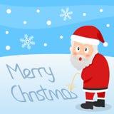 Καλά Χριστούγεννα Άγιος Βασίλης απεικόνιση αποθεμάτων