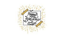 Καλές διακοπές διάνυσμα προτύπων Στοκ Εικόνα