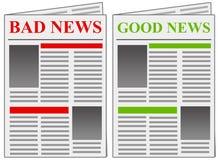 Καλές κακές ειδήσεις ειδήσεων Στοκ φωτογραφίες με δικαίωμα ελεύθερης χρήσης