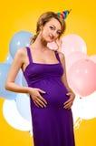 καλή έγκυος γυναίκα Στοκ Φωτογραφίες