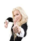 καλή γυναικεία τύχη που θέ Στοκ εικόνες με δικαίωμα ελεύθερης χρήσης