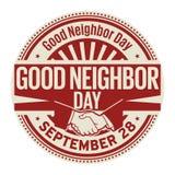 Καλή ημέρα γειτόνων, στις 28 Σεπτεμβρίου απεικόνιση αποθεμάτων