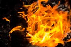 καλή κυριώτερη μαλακή κατακόρυφος φλογών πυρκαγιάς λεπτομέρειας ανασκόπησης μαύρη στοκ εικόνα με δικαίωμα ελεύθερης χρήσης