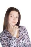 Καλή νέα γυναίκα πέρα από το λευκό Στοκ Φωτογραφία