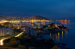 καλή νύχτα πόλεων στοκ εικόνα με δικαίωμα ελεύθερης χρήσης