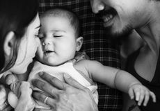 Καλή οικογένεια με τον πολύτιμο χρόνο Στοκ Φωτογραφία