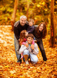 Καλή οικογένεια στο πάρκο Στοκ εικόνες με δικαίωμα ελεύθερης χρήσης