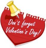 καλή σημείωση απεικόνισης καρδιών Στοκ Εικόνα