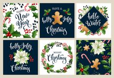 Καλή χρονιά 2019 Άσπρα και μαύρα collors Χαρούμενα Χριστούγεννας Σχέδιο για την αφίσα, κάρτα, πρόσκληση, αφίσσα, flayer, φυλλάδιο απεικόνιση αποθεμάτων