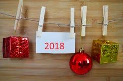 Καλή χρονιά, διακόσμηση για τα Χριστούγεννα Στοκ φωτογραφία με δικαίωμα ελεύθερης χρήσης