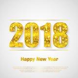 Καλή χρονιά 2018 Διανυσματική ανασκόπηση Στοκ Εικόνες