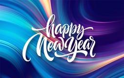 Καλή χρονιά 2020 Επιγραφή χαιρετισμού εγγραφής r στοκ εικόνα με δικαίωμα ελεύθερης χρήσης