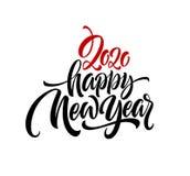 Καλή χρονιά 2020 Επιγραφή χαιρετισμού εγγραφής r στοκ φωτογραφία με δικαίωμα ελεύθερης χρήσης