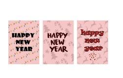 Καλή χρονιά, κάρτα, κάρτα, αφίσα ελεύθερη απεικόνιση δικαιώματος