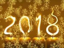 Καλή χρονιά 2018 κάρτα χαιρετισμών - snowflakes διανυσματική απεικόνιση