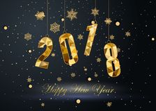 Καλή χρονιά και Χαρούμενα Χριστούγεννα 2018 Στοκ Φωτογραφία