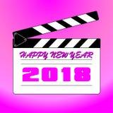 Καλή χρονιά 2018 με το υπόβαθρο στοκ φωτογραφία