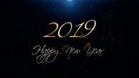 2019 Καλή χρονιά που χαιρετά την όμορφη ζωτικότητα κειμένων φιλμ μικρού μήκους