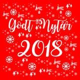 Καλή χρονιά 2018 σε δανικά ελεύθερη απεικόνιση δικαιώματος