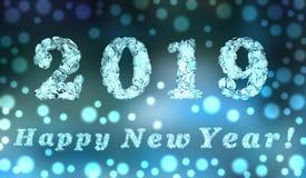 Καλή χρονιά 2019, τρισδιάστατη απόδοση στοκ φωτογραφία
