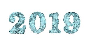 Καλή χρονιά 2019, τρισδιάστατη απόδοση στοκ φωτογραφίες