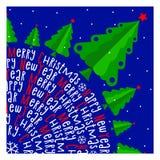 καλή χρονιά χαιρετισμός Χριστουγέννων καρτών Υπόβαθρο Διάνυσμα ι Στοκ φωτογραφία με δικαίωμα ελεύθερης χρήσης