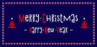καλή χρονιά χαιρετισμός Χριστουγέννων καρτών Υπόβαθρο Διάνυσμα ι Στοκ Φωτογραφίες