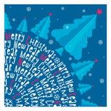καλή χρονιά χαιρετισμός Χριστουγέννων καρτών Υπόβαθρο διάνυσμα Στοκ Εικόνα