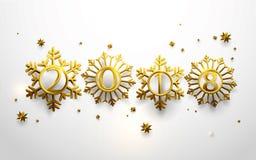 καλή χρονιά 2018 χρυσά snowflakes απεικόνιση αποθεμάτων