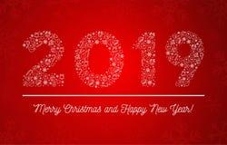 2019 καλή χρονιά απεικόνιση αποθεμάτων