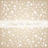 Καλή χρονιά 2018 snowflakes σχέδιο Καφετιά και άσπρη απεικόνιση καρτών συγχαρητηρίων χειμερινών διακοπών Διανυσματικό υπόβαθρο χι απεικόνιση αποθεμάτων