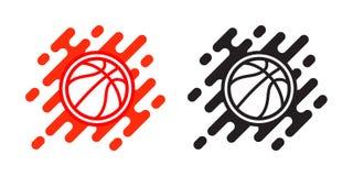 Καλαθοσφαίρισης σφαιρών εικονίδιο που απομονώνεται διανυσματικό στο λευκό Σχέδιο λογότυπων καλαθοσφαίρισης Απεικόνιση του υπαίθρι ελεύθερη απεικόνιση δικαιώματος