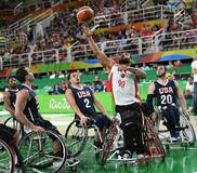 Καλαθοσφαίριση παιχνιδιών 2016 Paralympics στοκ φωτογραφία με δικαίωμα ελεύθερης χρήσης