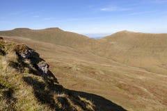 Καλαμπόκι du, ανεμιστήρας μανδρών Υ και Σύνοδοι Κορυφής Cribyn, αναγνωριστικό σήμα Brecon στοκ φωτογραφία με δικαίωμα ελεύθερης χρήσης