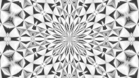 Καλειδοσκόπιων γραπτός 4 του //4k 60fps μονοχρωματικός καθρεφτών βρόχος υποβάθρου σύστασης τηλεοπτικός διανυσματική απεικόνιση
